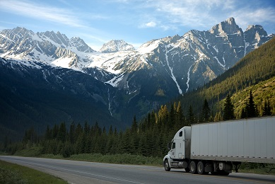 Temperature controlled truck driving in Canada