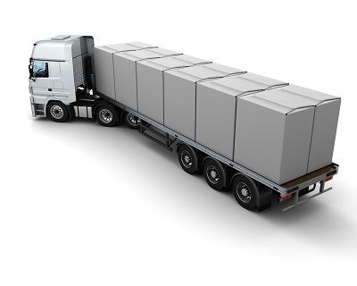 Image of Flatbed Trailer Truck